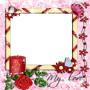marco para fotos con la palabra my love