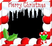 fotomontaje tarjeta de feliz navidad