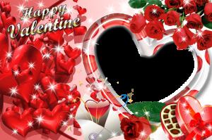 marcos para fotos happy valentine