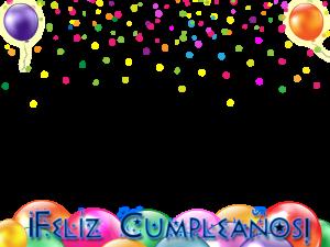 tarjeta de cumpleanos con globos