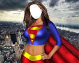 fotomontaje de super woman